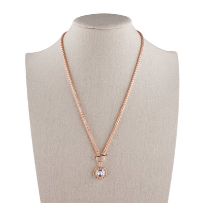Rose Gold Necklace Fits 12mm Snap on Button