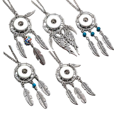 "Dreamcatcher Necklace Snap Fit ""12mm""/ ""18mm"" Buttons"