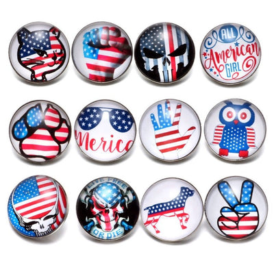 American Flag 18mm12pcs/lot