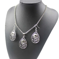 Necklace & Earrings W/ Chain & Fits 12MM Buttons