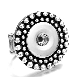 Adjustable Ring Snap Fits 18mm Buttons
