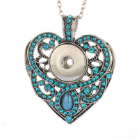 Pendant Necklace Snap Accessory Fit 18mm Buttons