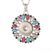 Assorted Pendant Necklace Snap Fit 18mm Buttons