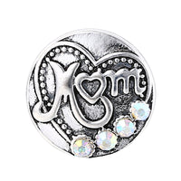 Bling Mom Heart Button 18mm 10pcs/lot