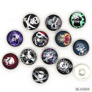 Mixed Vintage Style Skull 18mm 12pcs