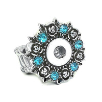 # 1 Seller Adjustable Ring Snap Fit 12mm Button  FREE SHIPPING