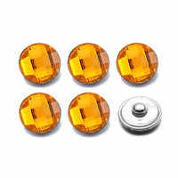 Acrylic Resin Button Fit 18mm Snap Accessories 10pcs Lot 7 Colors