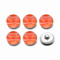 Acrylic Resin Button Fit 18mm Snap Accessories 10pcs 7 Colors