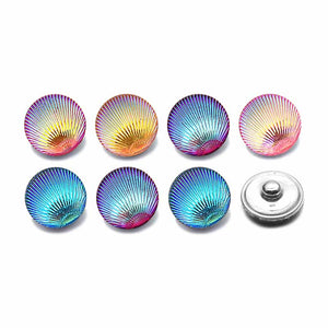 Shell Button Fit 18mm Snap Accessories 10pcs Lot 7 Colors