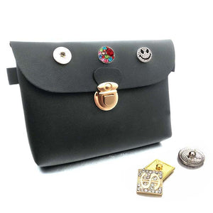 Hanbag Purse Snap Pu leather fit 18mm button