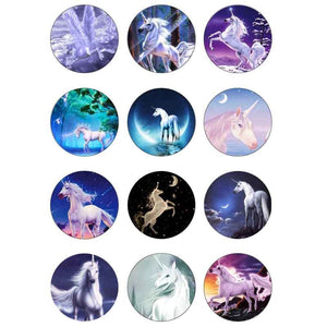 Unicorn button fit 18mm snap 12pcs/lot