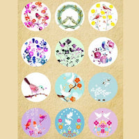 Brid flower mix fit 18mm snap 12pcs/lot