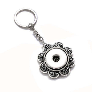 Flower Snap Key Chains Fit 18mm Button