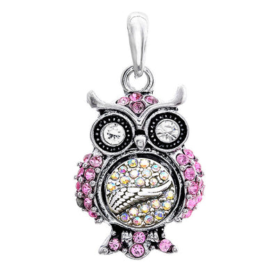 "Owl🦉 Snap Pendant Necklace Fits ""12mm"" Button"