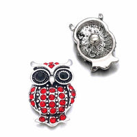 Bling Owl Button Fits 18mm 20mm Snap Accerrories