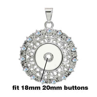 Open Work Vintage Style Snap Fits 18mm Button