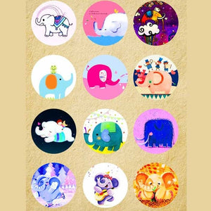 Elephant Mix Buttons Fits 18mm Snap Accessories 12pcs/lot