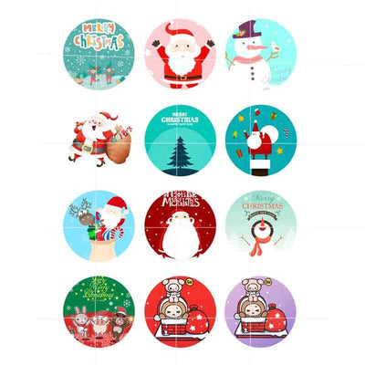Christmas Buttons Mix Fit 18mm 12pcs/lot