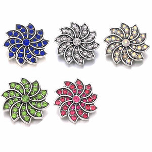 Flower button Fits 18mm 20mm Snap Accessories 10pcs Lot/ 5 Colors