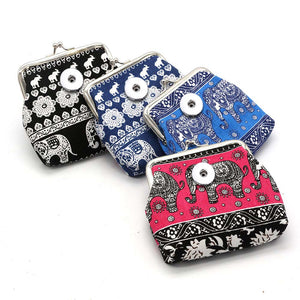 Snap Button Purse Fits 18mm Snap Button