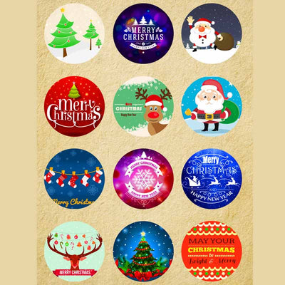 Christmas Mix Button Fit 18mm Snap Accessories 12pcs/lot