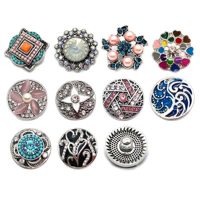 Most Popular Button Fits 18mm 20mm Snap Accessories 10pc set