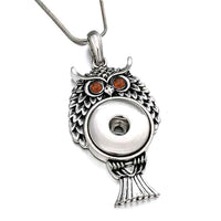 Owl Snap Pendant Necklace Fit 18mm Button