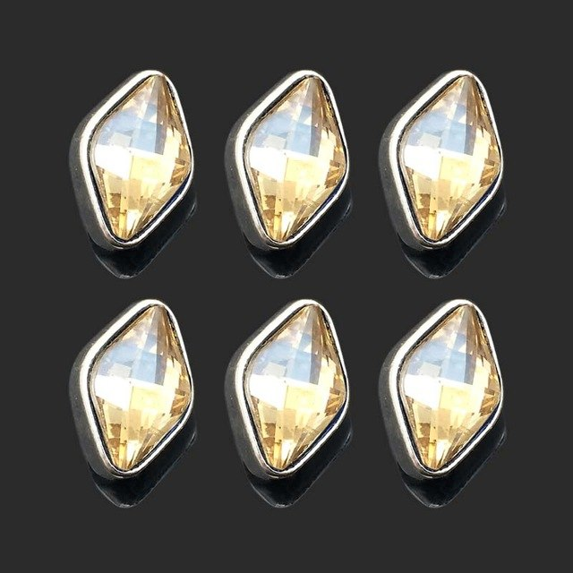 Diamond Rhinestones Metal Buttons Fit 12mm 10pc Lot  5 Colors