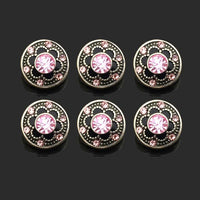 Flower button Fit 12mm Snap Great For Earrings 10pcs Lot 5 Colors