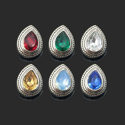 Big Rhinestones button Fit 12mm Snap 10pcs Lot 6 Colors