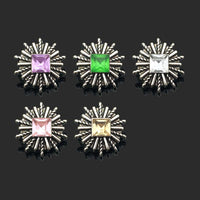 Flower Rhinestones Metal Snap Buttons Fit 12mm 10pcs LOT 5 Colors