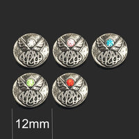 Crystal Angel Rhinestones Buttons Fit 12mm 10pc lot                                                                                                                                                                                                        Snap