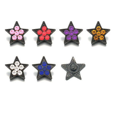 Crystal Star Buttons Fit 12mm Snap Accessories 10pcs 6 Colors