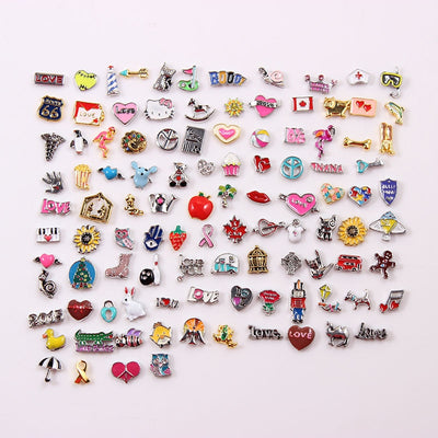 """100pcs/lot""  Random Designs Charm For Floating Locket MIX Lot"