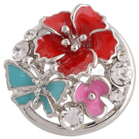 Flower Butterfly Button Fits 18mm Snap Accessories 10pcs Lot