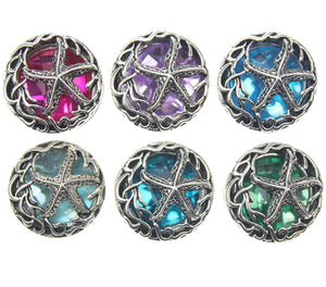 Starfish Crystal 18mm Button10pcs/lot
