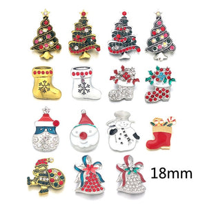 Metal Christmas Button18mm