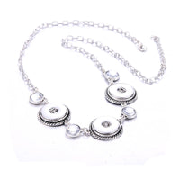 New High Quality 3 Snap Crystal Necklace Fits Buttons 18mm