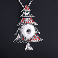 New Christmas tree Snap Necklace Fit 18mm Buttons