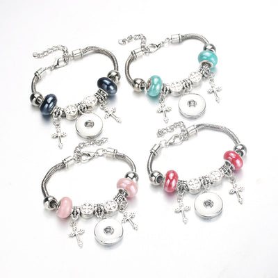 """10PC"" Bracelet Charm & Beaded Fit 18MM 10pc Lot 5Colors"