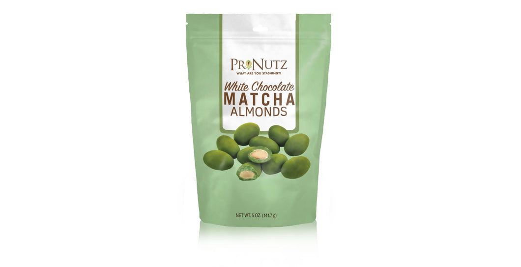White Chocolate Matcha Almonds 5oz