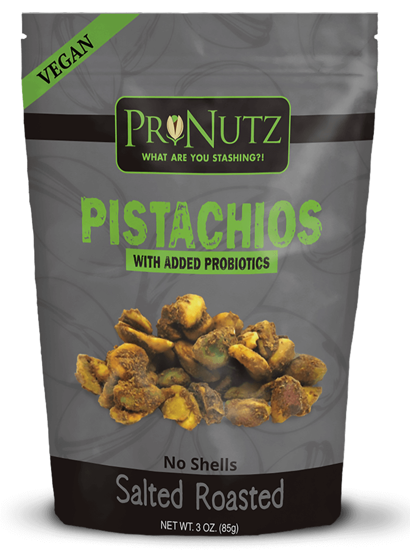 Salted Roasted Vegan Pistachio Kernels (No Shells) With Added Probiotics by Pronutz