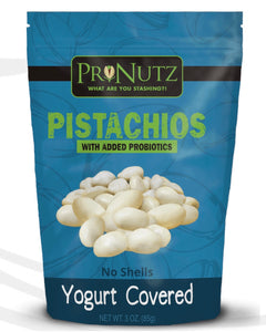 Pronutz -  Yogurt Covered Pistachios With Added Probiotics (No Shells)