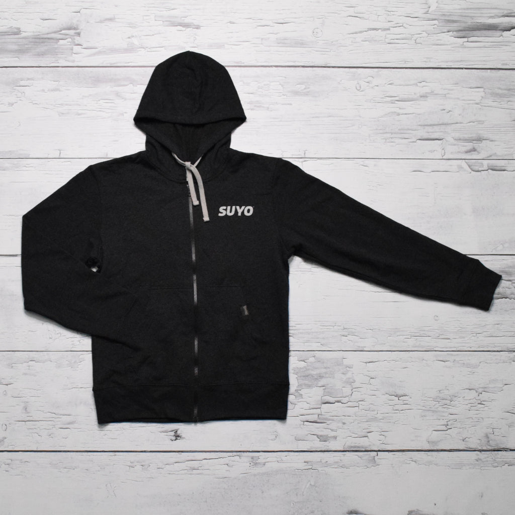 Zip Hoodie (Black Heather)
