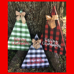 CHRISTMAS Plaid Trees