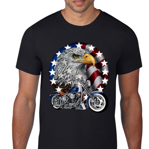 American Eagle Motorcycle Black T-Shirt