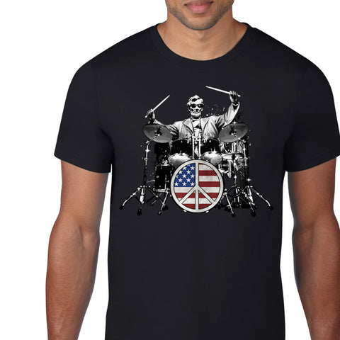 Abe Lincoln Peace Drums Custom T-Shirt