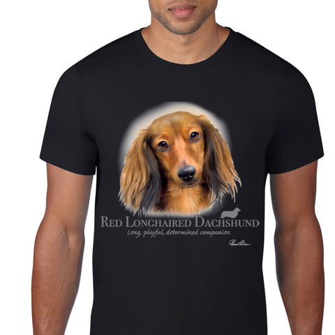 Red Longhaired Dachshund T-Shirt