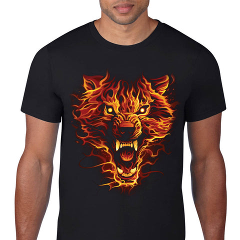 Flaming Wolf T-Shirt