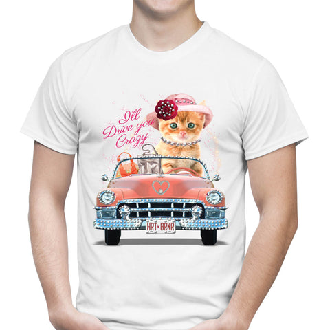 Kitty Car Rhinestones T-Shirt